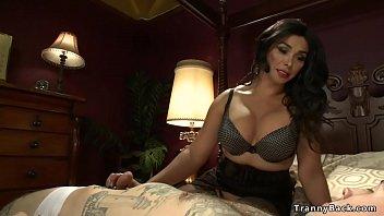 Big Tits TS Pornstar Vaniity Rimming And Ass fucks Submissive Sissy