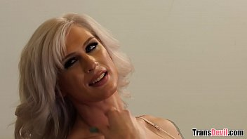 Sexy Interracial Blonde Tranny Caught By BBC Roommate