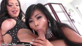 Big Dick Shemale Chanel Santini Fucking Asian Pussy
