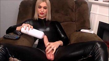 Blonde Webcam Shemale Fleshlight Fuck Sex Show