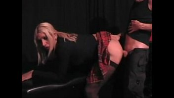 Sexy Blonde Sissy Crossdresser Booty Pounding
